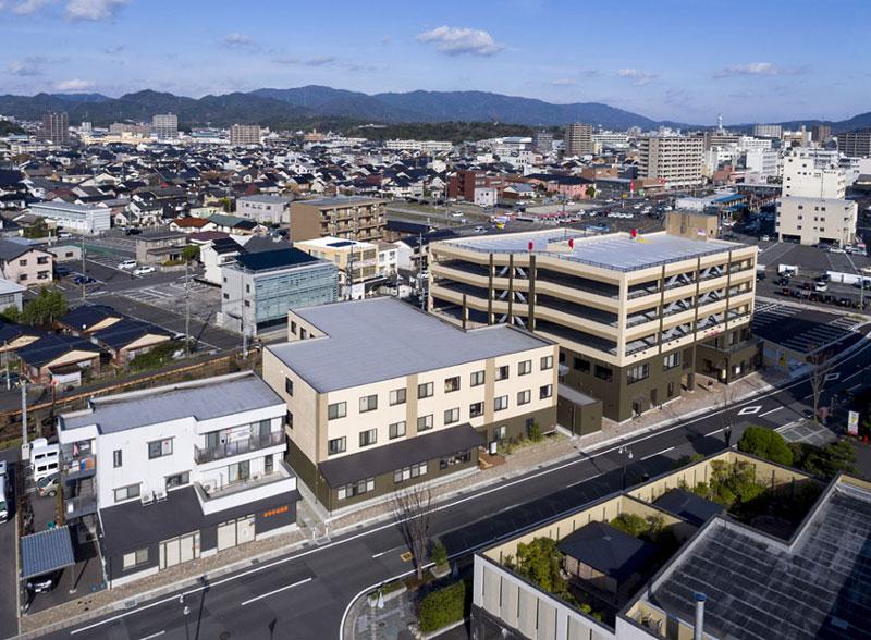 島根県松江市千鳥町ビル周辺地区第一種市街地再開発事業完成写真
