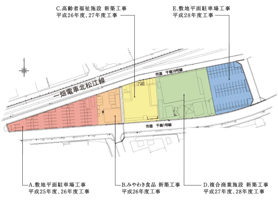 島根県松江市千鳥町ビル周辺地区第一種市街地再開発事業